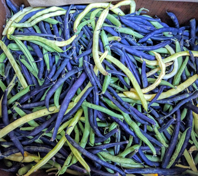 tri-color green beans